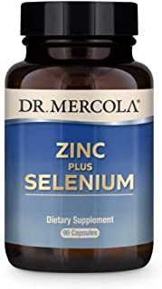Dr. Mercola Zinc Plus Selenium Dietary Supplement, 90 Servings (90 Capsules), Supports Immune Health, Non GMO, Soy Free, G...
