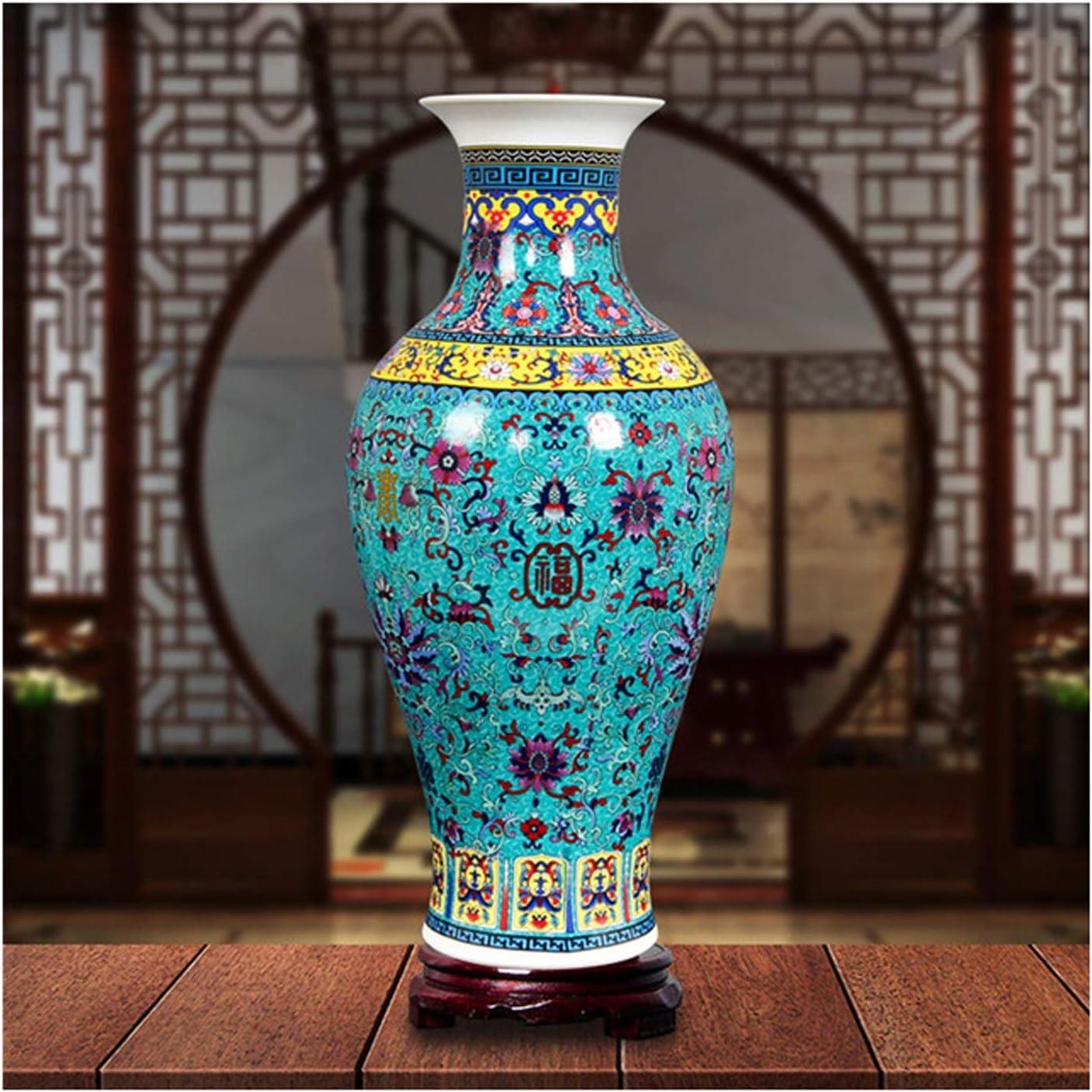 All stores are sold jinyi2016SHOP Flower Vase Jingdezhen Antique Enamel Floor Big Limited time trial price Va