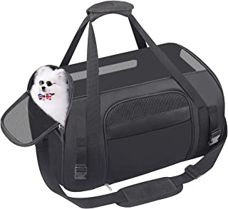 558434534be HACHI SHOP Pet Carrier Dog Airline Approved Soft-Sided Portable Travel Bag  for Small Dogs