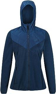 Regatta Women's Upham Hooded Hybrid Softshell Jacket with Zipped Pockets, BlueOpal/BlueOpal, 12