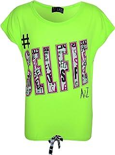 Kids Girls #Selfie Print Stylish Fahsion Trendy T Shirt Top New Age 7-13 Years