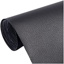 Big Leather Patch, Adhesive Backing Leather seat Patch for Repair Sofa, Car Seat, Jackets, Handbag, 54 by 39 Inch, Black