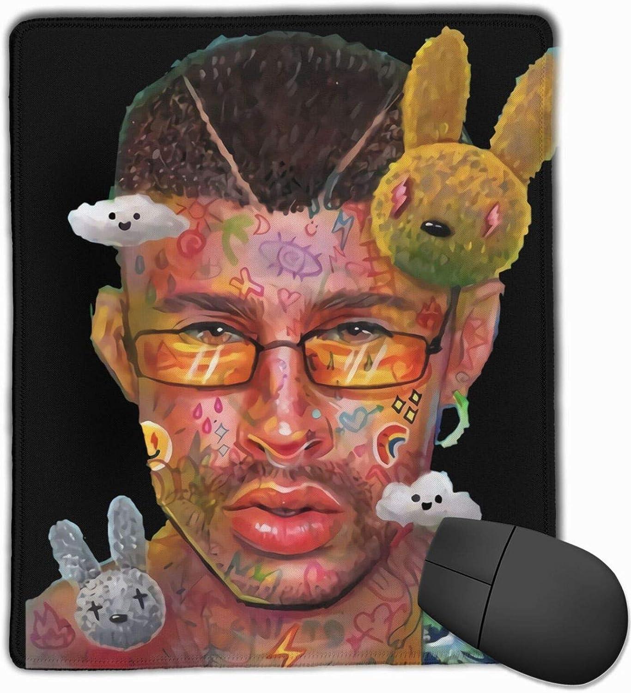 Bad Bunny Washable Printed Stylish Office Gaming Gaming Mouse Pad