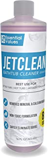 Essential Values Jetted Tub Cleaner (16 fl oz Per Bottle / 16 uses Total) – Works Best on Jetted Tubs, Spas, Jet Systems & More to Clean and Slime Remove Build-up | Made in USA