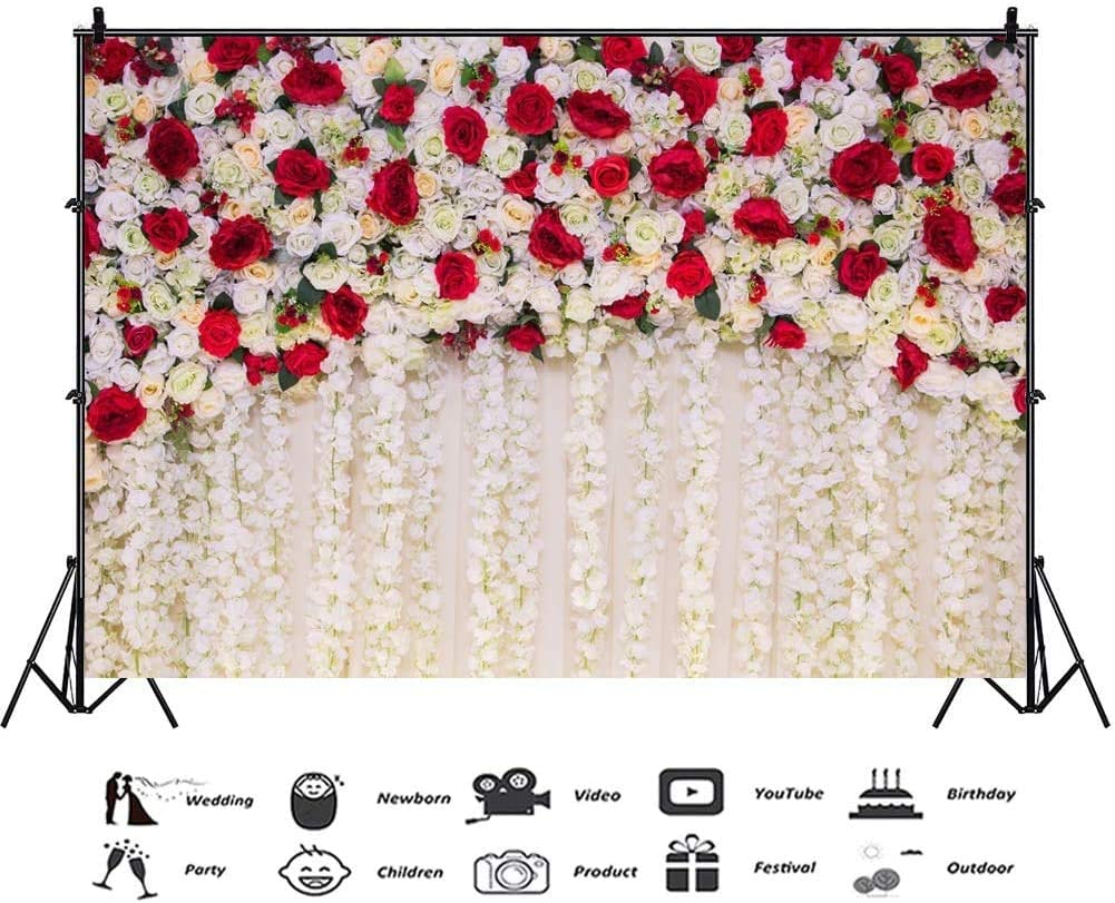 AOFOTO 7x5ft Girl Newborn Baby Photography Backdrops Red White ...