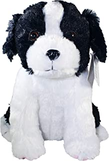 """Shelter Pets Series Two: Muttombo - 10"""" Border Collie Dog Plush Toy Stuffed Animal - Black and White Puppy - Based on Real-Life Adopted Pets - Benefiting The Animal Shelters They were Adopted from"""