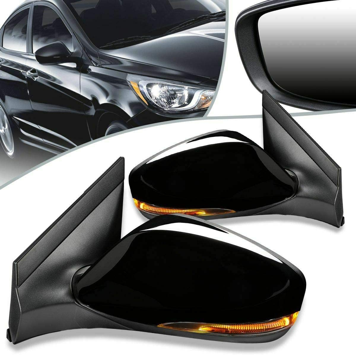 GUJOA Customized Hatchback Inventory outlet cleanup selling sale 1 Pair Door Power Signal Heat Mirror