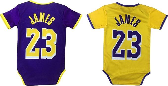 James Basketball Baby Romper Jersey Lebron Infant Toddler Onesies Home/Away Jersey Design Bundle Premium Quality