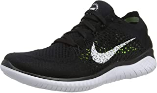 Womens Free RN Flyknit 2018 Running Shoes (9 B(M) US) Black/White