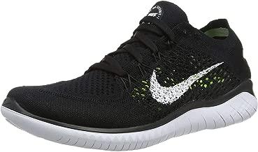 Nike Womens Free RN Flyknit 2018 Running Shoes (6.5 B(M) US) Black/White