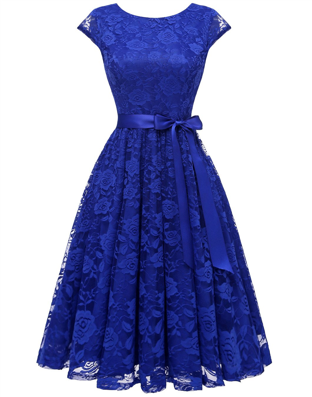 Available at Amazon: BeryLove Women's Floral Lace Short Bridesmaid Dress Cap-Sleeve Wedding Formal Party Dress