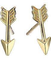 14KT Yellow Gold Arrow Earrings