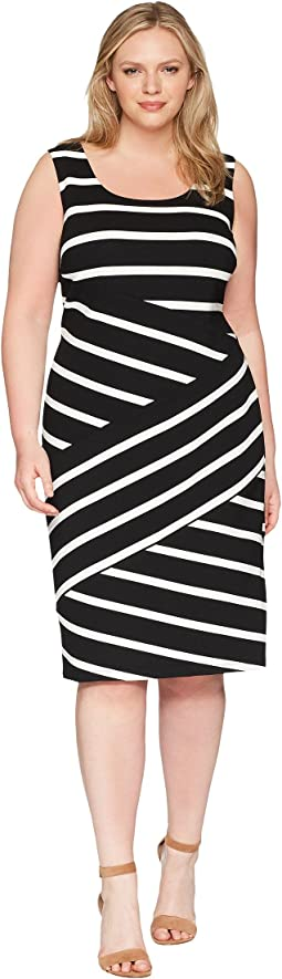 Plus Size Ottoman Striped Sheath