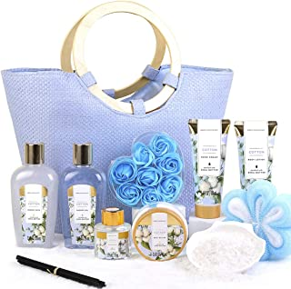 Green Canyon Spa Coffret Cadeau Femme, 10 PCS Coffet De Bain au Parfum de Coton, Comprend Gel Douche, Sels De Bain, Diffus...