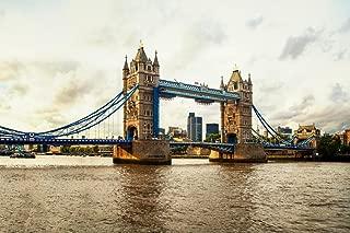 Tower Bridge Thames River in London England UK Photo Art Print Cool Huge Large Giant Poster Art 54x36