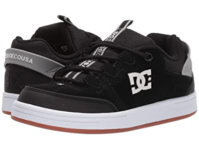 DC Kids Syntax (Little Kid/Big Kid) (Black/Grey) Boys Shoes