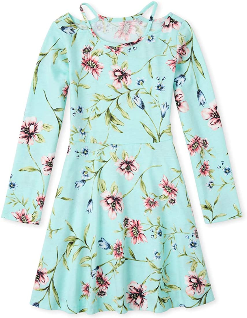 The Children's Place Girls' Cut Out Skater Dress