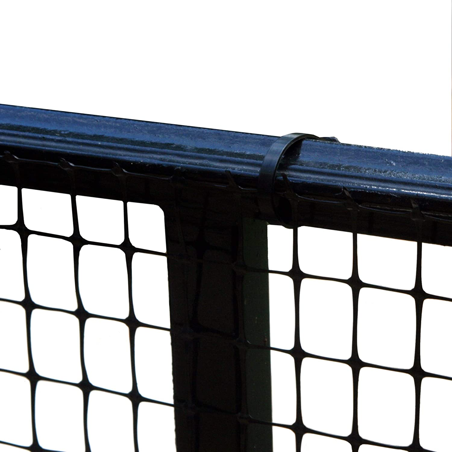 Cardinal Gates Heavy-Duty Outdoor Deck Netting, Black, 15', Safety Net and Deck Netting for Pets and Children