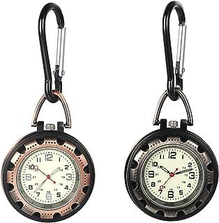 Orologio al quarzo a clip con lancetta dei secondi per uomini e donne che si illuminano al buio zaino fibbia orologio da c...