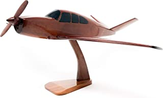 Bonanza v-Tail Replica Airplane Model Hand Crafted with Real Mahogany Wood