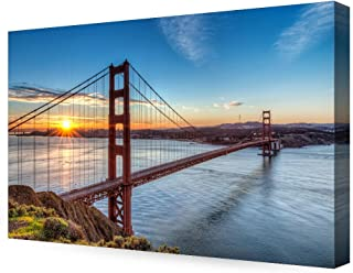 DECORARTS - Golden Gate Bridge, San Francisco, Califonia. Giclee Canvas Prints for Wall Decor. 36x24x1.5