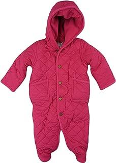 RALPH LAUREN Polo Infant Girls Quilted Fleece Lined Bunting Bodysuit