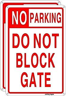 Joffreg No Parking Do Not Block Gate Sign,UV Protected,Weather Resistant,Waterproof,Durable Ink,20 x 30 cm,Reflective Alum...