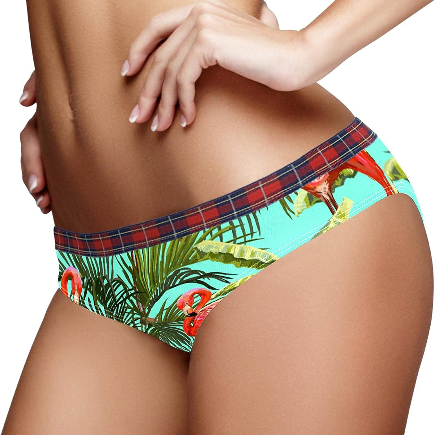 New Orleans Mall Hipster Panties Women Stretch Green Max 90% OFF Flamingo La Tropical