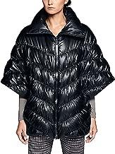 Nike Womens Cascade Down Poncho Jacket Black Feather (Medium)