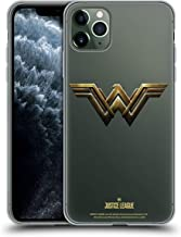 Official Justice League Movie Wonder Woman Logos Soft Gel Case Compatible for iPhone 11 Pro Max