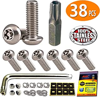 Frames /& Covers OE Style Fastener Kit with Nylon Inserts for Fastening License Plates Blue Zinc Plated OttoSpeed Blue License Plate Screws
