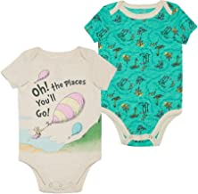 Dr. Seuss Baby Boys' Short Sleeve Bodysuit (Set of 2)