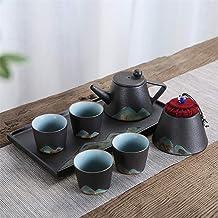 Tea Set Exquisite Decor van het Huis Gift Cerative Ink Pattern Glaze Japanse Theepot met handvat en Theekopje Set for 2 Ad...