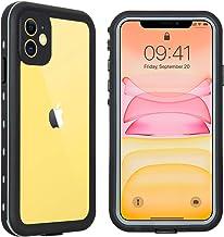 Hertekdo Funda para iPhone 11, IP68 Funda Impermeable para iPhone 11 con Kickstand Absorción de Choque Resistente iPhone 11 Funda Ideal para Buceo, Esquí y Natación