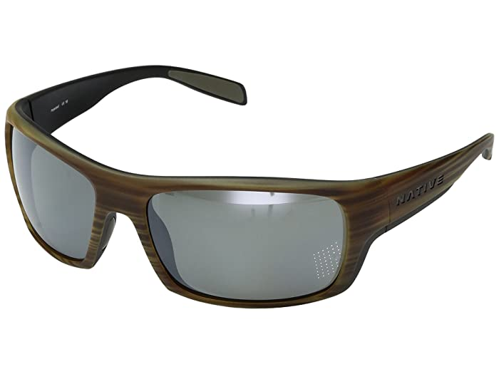 Native Eyewear Eddyline (Wood/Matte Black) Sport Sunglasses