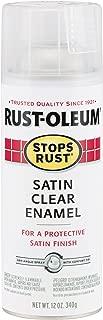 Rust-Oleum 285092 Stops Rust Spray Paint, 12-Ounce, Satin Clear
