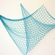 Bilipala Rustic Decorative Fishing Net Wall Decor Nautical Style Wall Hangings Ornaments Blue