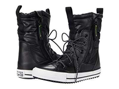 Converse Kids Chuck Taylor(r) All Star(r) MC Boot (Little Kid/Big Kid) (Black/White/Lemon Venom) Kids Shoes