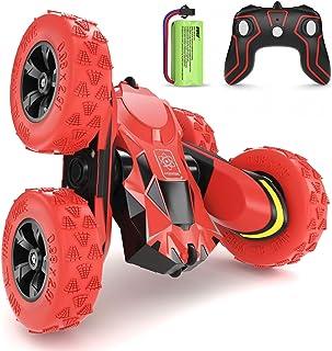 SGILE RC Voiture Télécommandée - 4WD Stunt Car avec Batterie Rechargeable, Rotation à 360 Degrés Camion Radiocommandée, Vo...
