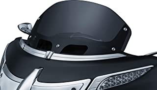 "Kuryakyn 1268 Airmaster 9"" Polycarbonate Windshield Windscreen for Batwing Fairing: 2014-19 Indian Chieftain & Roadmaster Motorcycles, Dark Smoke"