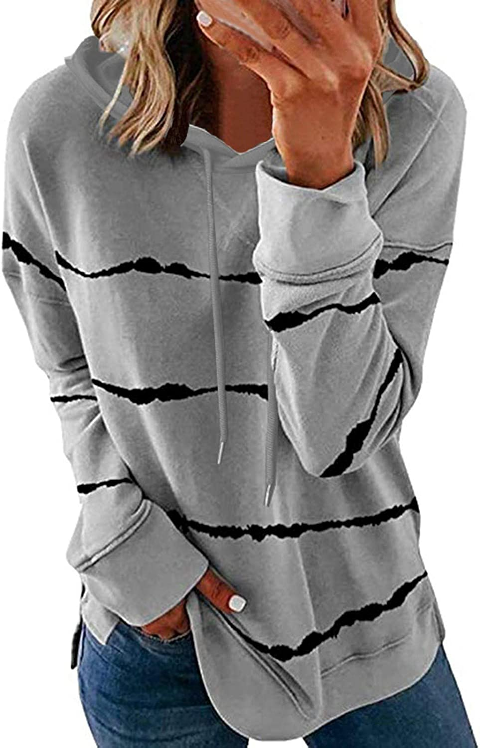 Hotkey Women's Fashion Hoodies Long Hooded S Sweatshirts half Sleeve Special price for a limited time