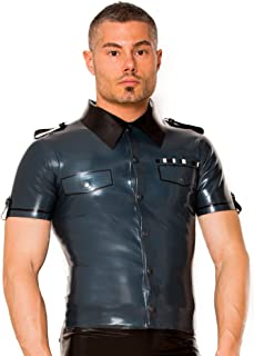 Skin Two Clothing Mens Shirt in Rubber Black /& Red