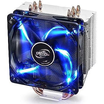 DEEP COOL GAMMAXX 400, Ventilateur de processeur PC, 4 Caloducs, Ventilateur 120mm PWM LED Bleu