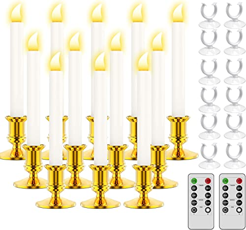 2021 RONXS Window Candles,LED Candles with Timer, high quality Outdoor Christmas Decorations Flameless Candles Battery Operated Flickering Candles with 1 Remote Controls, new arrival Glod Candle Holders (12 Pcs Gold) online