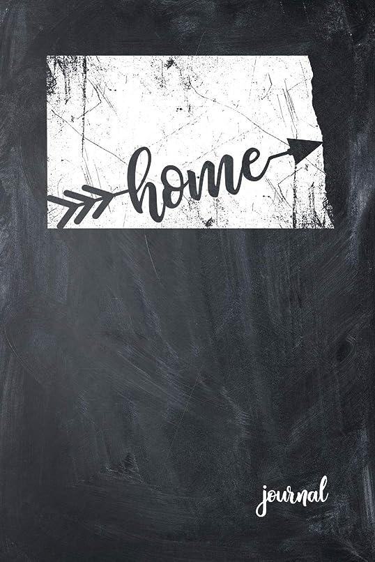 断言する完璧有彩色のHome Journal: State of North Dakota Gypsy Arrow Home Blank Diary 120 Paged College Lined 6x9 RV Travel Journal