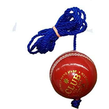 PSE Priya Sports Club-PRACT-RED Leather Practice Hanging Cricket (Red)