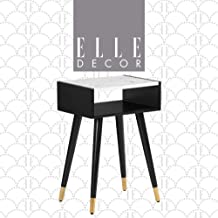 Elle Decor Clemintine Side Table, Noir Black