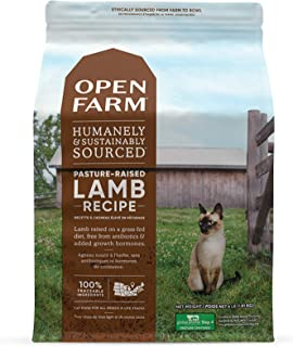 Open Farm Pasture-Raised Lamb Grain-Free Dry Cat Food, Humanely Raised Lamb Recipe with Non-GMO Superfoods and No Artifici...