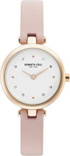 Kenneth Cole Women's Classic Ladies KC50515003 Rose-Gold Leather Quartz Fashion Watch