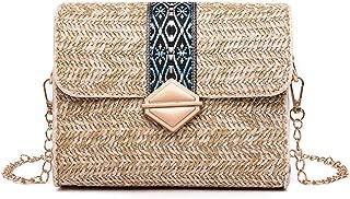 Bageek Shoulder Bag Fashion Ethnic Style Messenger Bag Beach Travel Satchel Bag (Brown)